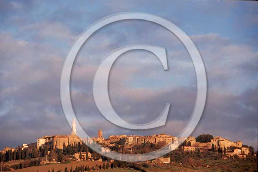 2000 - View of Pienza medieval village, Orcia Valley, 32 miles south the province of Siena.