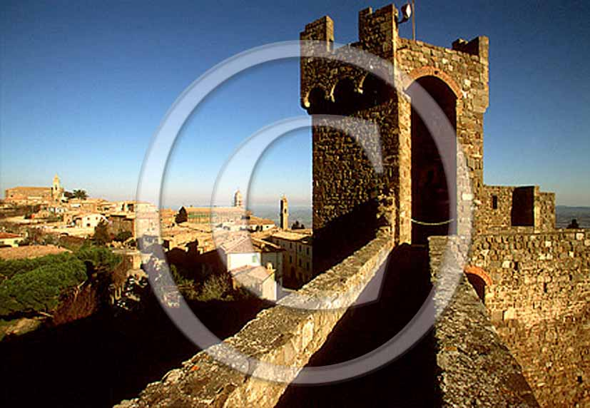 2002 - View of fortress of Montalcino medieval village.