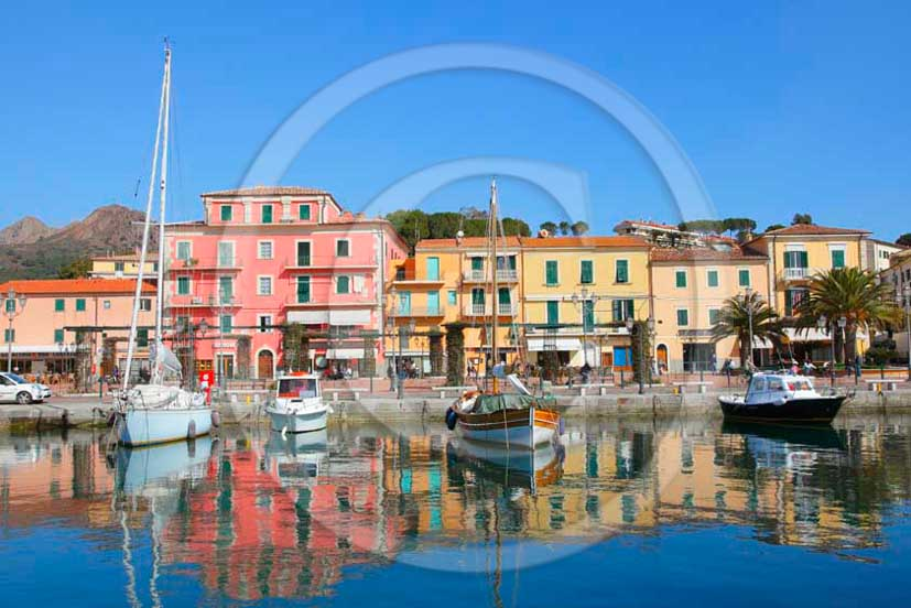2012 - View of port of Portoazzurro village, Elba Island, Tirreno sea.
