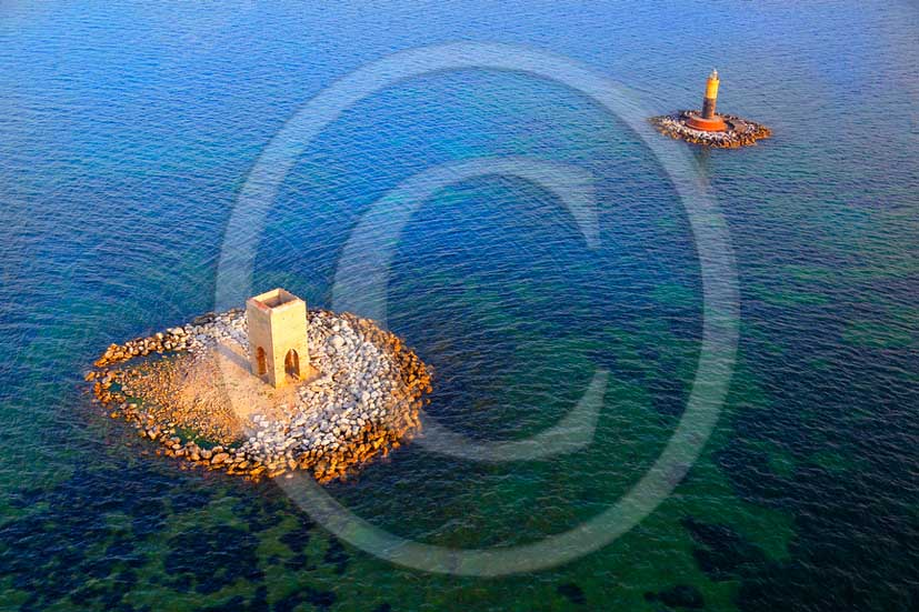 2012 - Aerial view of the Melora towers, near Livorno coast on Tirreno sea.