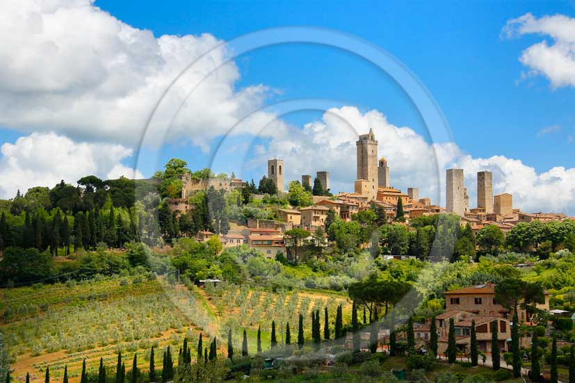 2013 - View of the towers of the town of San Gimignano.