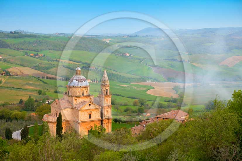 2013 - View of Saint Biagio Abbay near Montepulciano medieval village in Valdichaina valley.