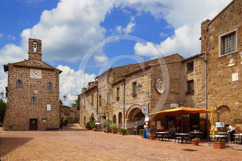2009 - View of the main square of Sovana medieval village in easter, 28 miles south province of Grosseto.