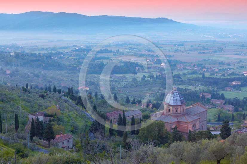 2009 - Landscapes with S.Maria delle Grazie church on sunrise, near Cortona medieval village , Val di Chiana valley, 21 miles east Arezzo province.