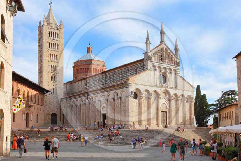 2011 - View of the cathedral of the Massa Marittima village in Maremma land.