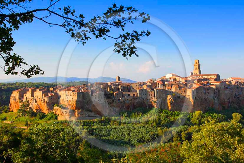 2011 - View of the village and wall of Pitigliano in Maremma land.